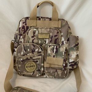 Army fishing / baby / carry bag double strap